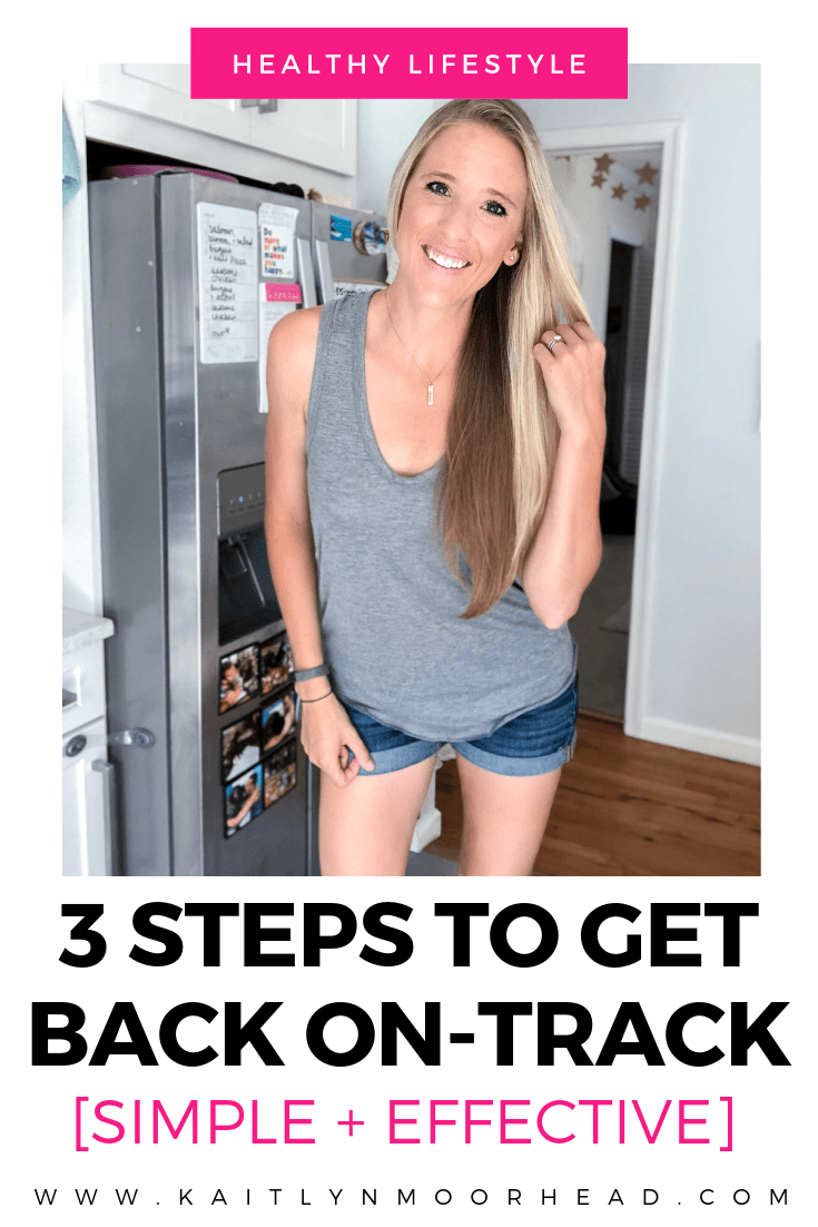 3 STEPS TO GET BACK ON TRACK [SIMPLE + EFFECTIVE], HOW TO GET BACK ON-TRACK WITH EATING HEALTHY AND WORKING OUT, HOW TO EAT HEALTHY AND WORKOUT