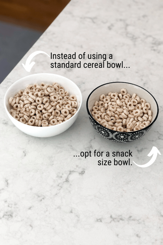 Want to know 13 of the best portion control hacks to help you to eat less food during each meal? This blog post includes realistic tips to give you ideas for how to manage serving sizes while losing weight so you can actually make it a habit + keep the weight off! It also includes my favorite portion controlling products: plates, bowls, measuring cups + spoons, scales, reusable bags, containers, etc. Click to get the motivation + inspiration you need to eat healthy + manage weight loss for life!