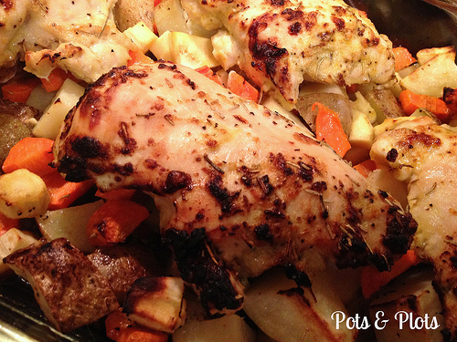 Lemon Rosemary Garlic Chicken and Roasted Vegetables