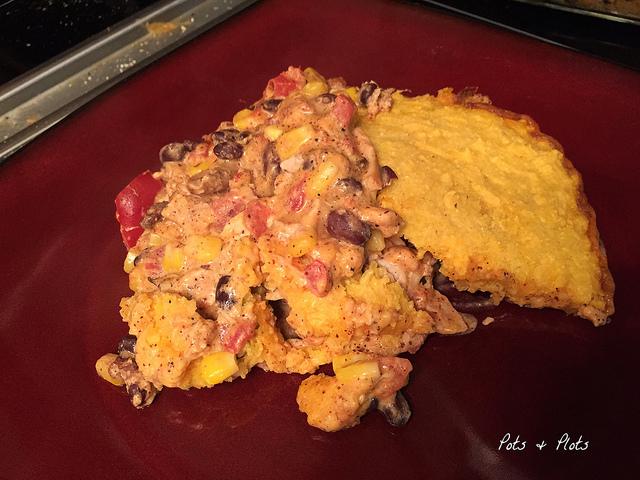 GF/DF Mexican Chicken Cornbread Casserole