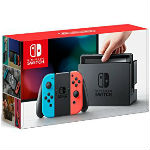 Nintendo Switch本体 Joy-Con(L) ネオンブルー (R) ネオンレッドの画像