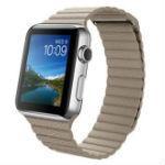 Apple Watch 42mmステンレススチールケースとストーンレザーループ L MJ442J/Aの画像