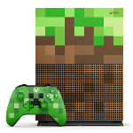 Xbox One S本体 1TB Minecraft リミテッド エディションの画像