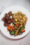 Hibachi Steak and Veggies with Fried Rice