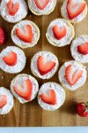 sugar cookie cups on a serving tray