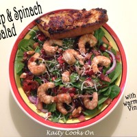 Shrimp and Spinach Salad with Warm Bacon Vinaigrette