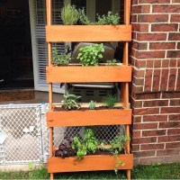DIY Ladder-Style Upright Herb Planter