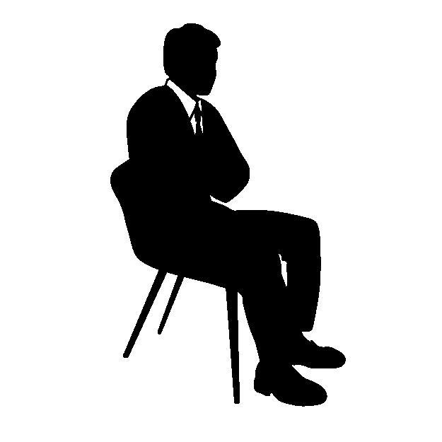 腕を組む座り方