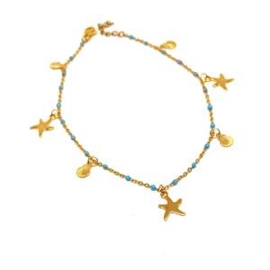 braccialetto-oro-catena-smaltini-ciondoli-mare