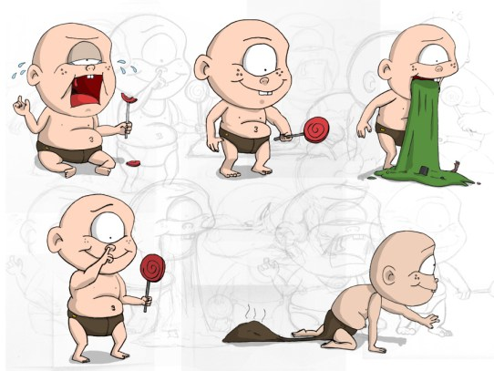 Cyclops Baby actions (Character Design)