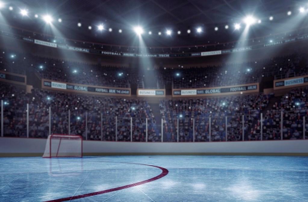 Hockey arena.