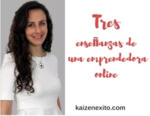 3 enseñanzas de una emprendedora online