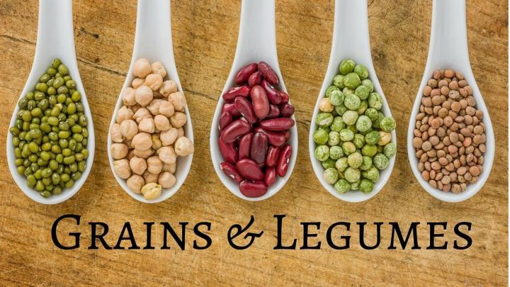 legumes and grain for iron deficiency