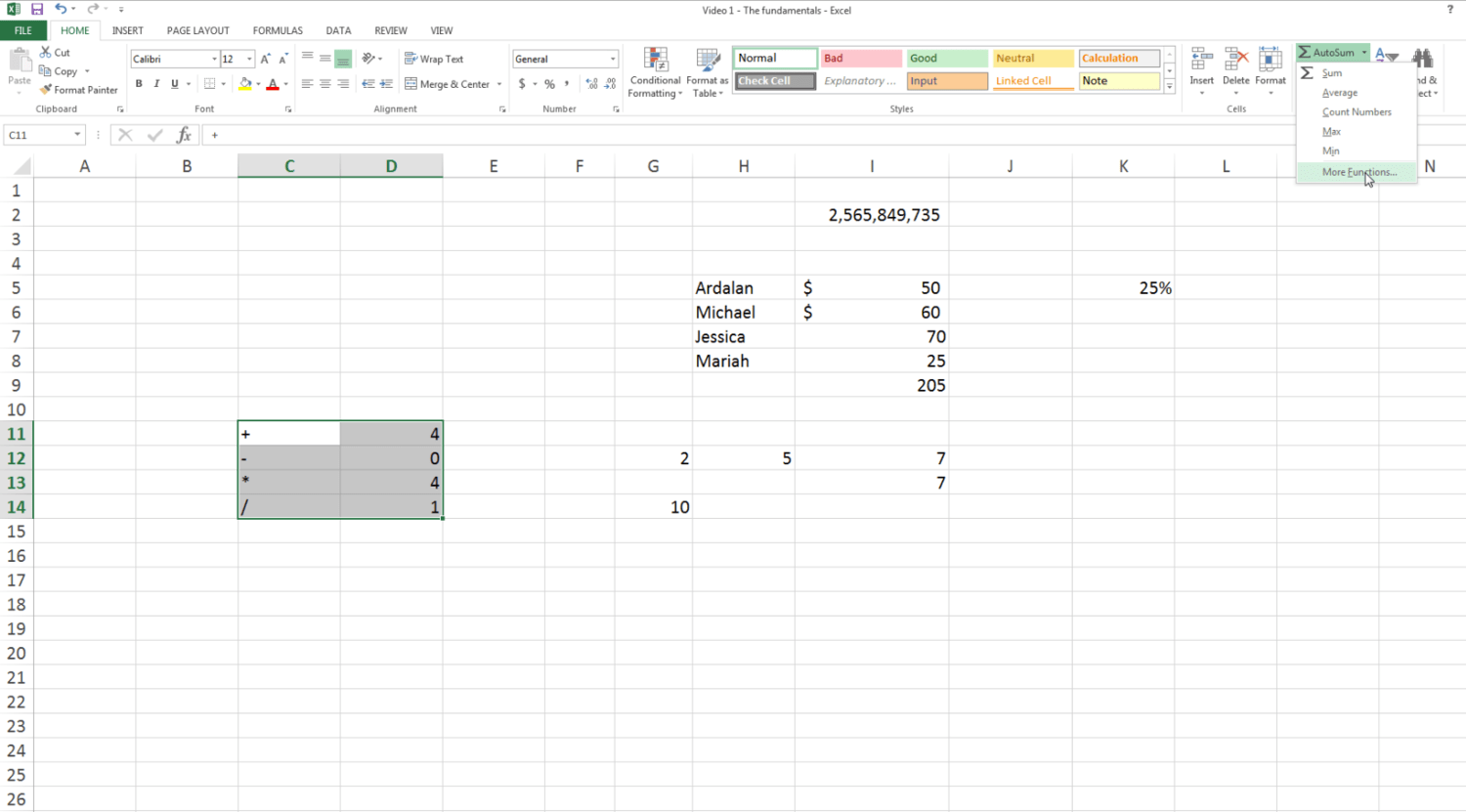 Free Online Course In Excel For Beginners