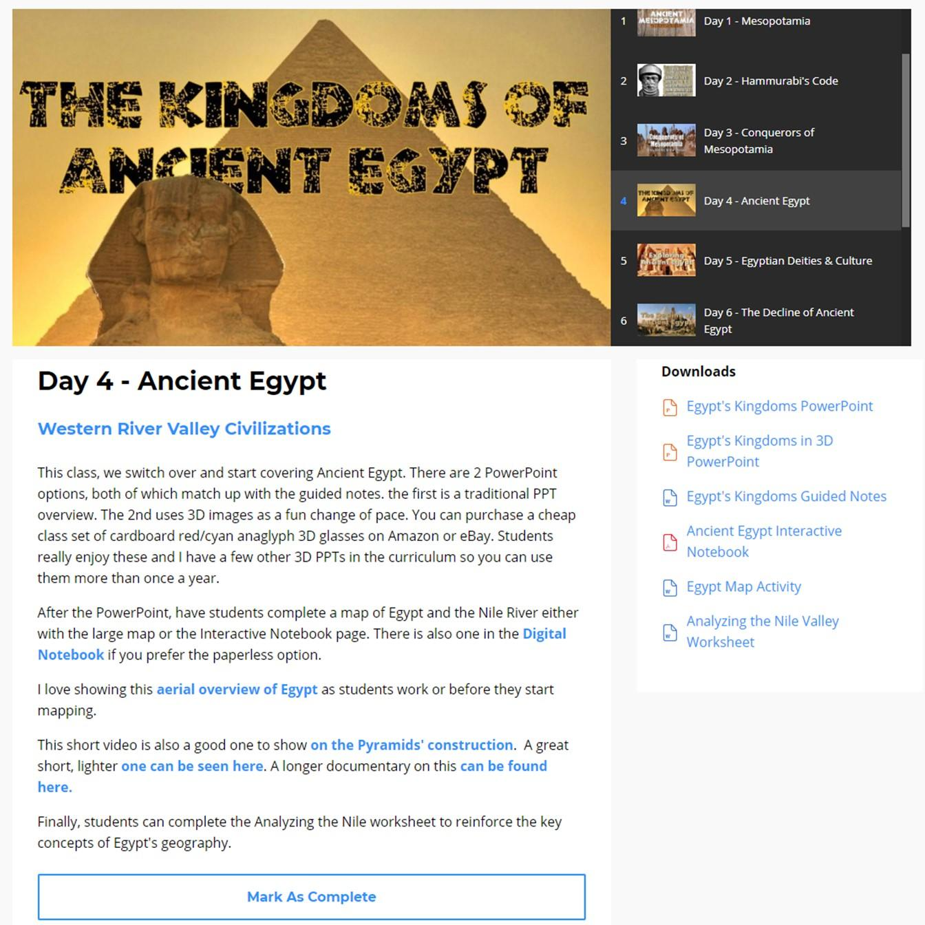 The Egypt Game Worksheet