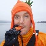 Erik i morotsmössa på Västersjön
