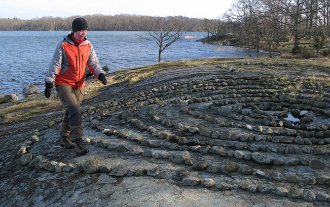 Labyrint på Arpös norrsida