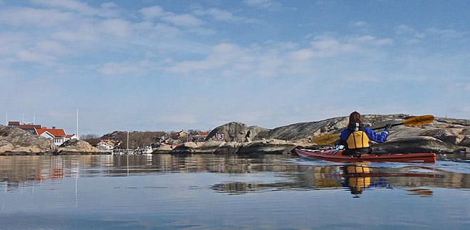 På väg in mellan St Mosskullen och Köpstadsö