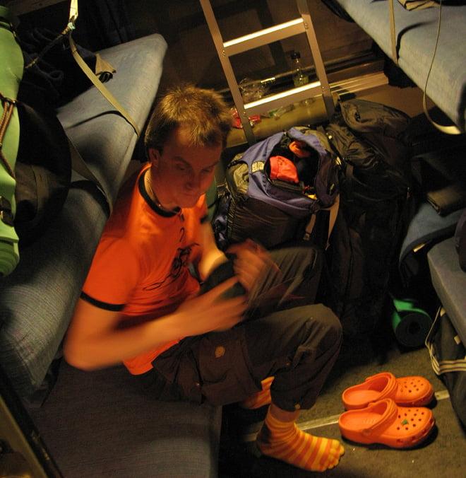 Lite orange i liggvagnen