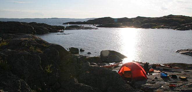 Läger på Viksten