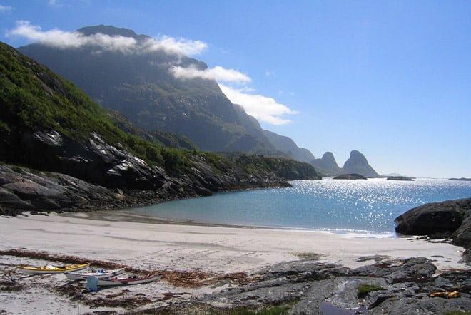 Hyfsat strand på ön Tomma strax söder om polcirkeln