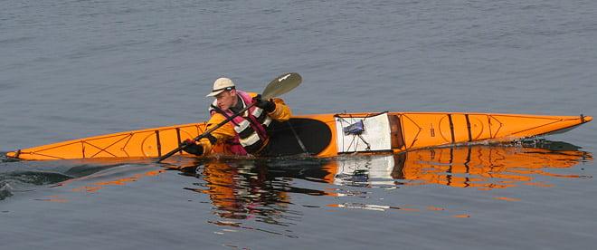 Clapotis sea kayak konstruerad och byggd av Johan Linder