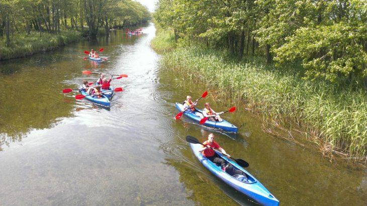 spływy kajakowe z rodziną w roku 2018 w rzece Piaśnica i Dębki