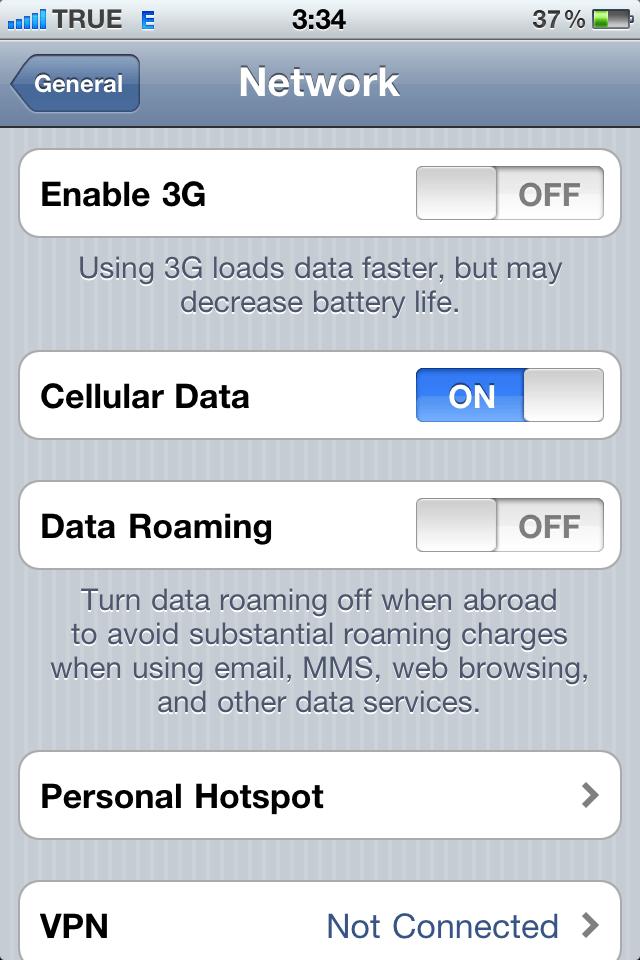 เซ็ท iPhone 4 เป็น Personal HotSpot เพื่อแชร์อินเตอร์เน็ตให้เครื่องอื่นได้ใช้ด้วย (iOS4.3) (2/6)