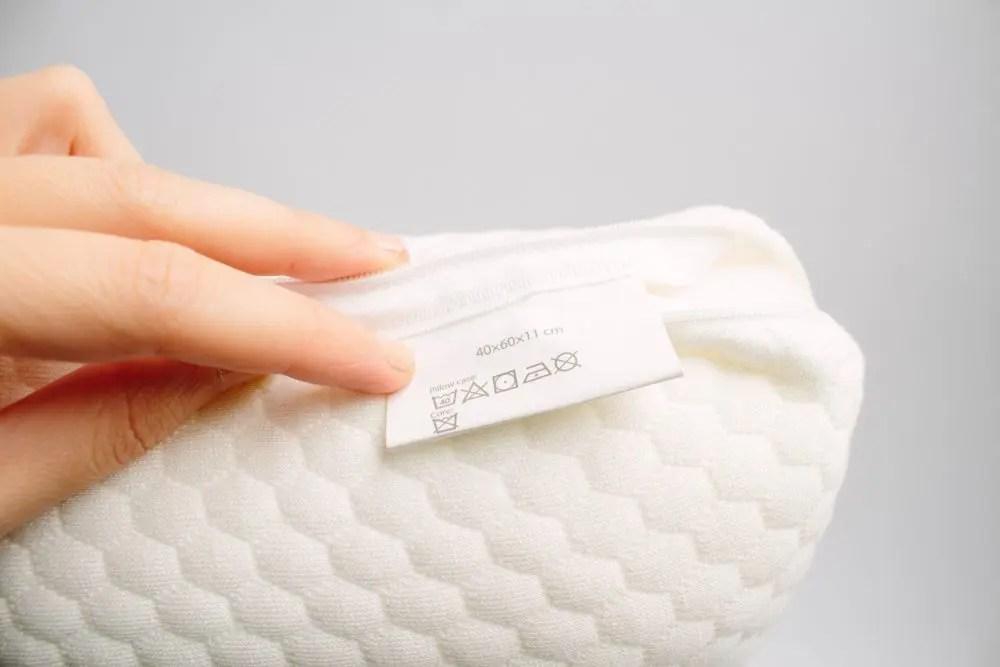低反発枕のタグの洗濯表示