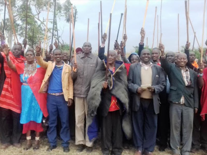 A section of Keek-Onyokie members on July 26, 2017 when they demanded the Ngong veterinary farm.