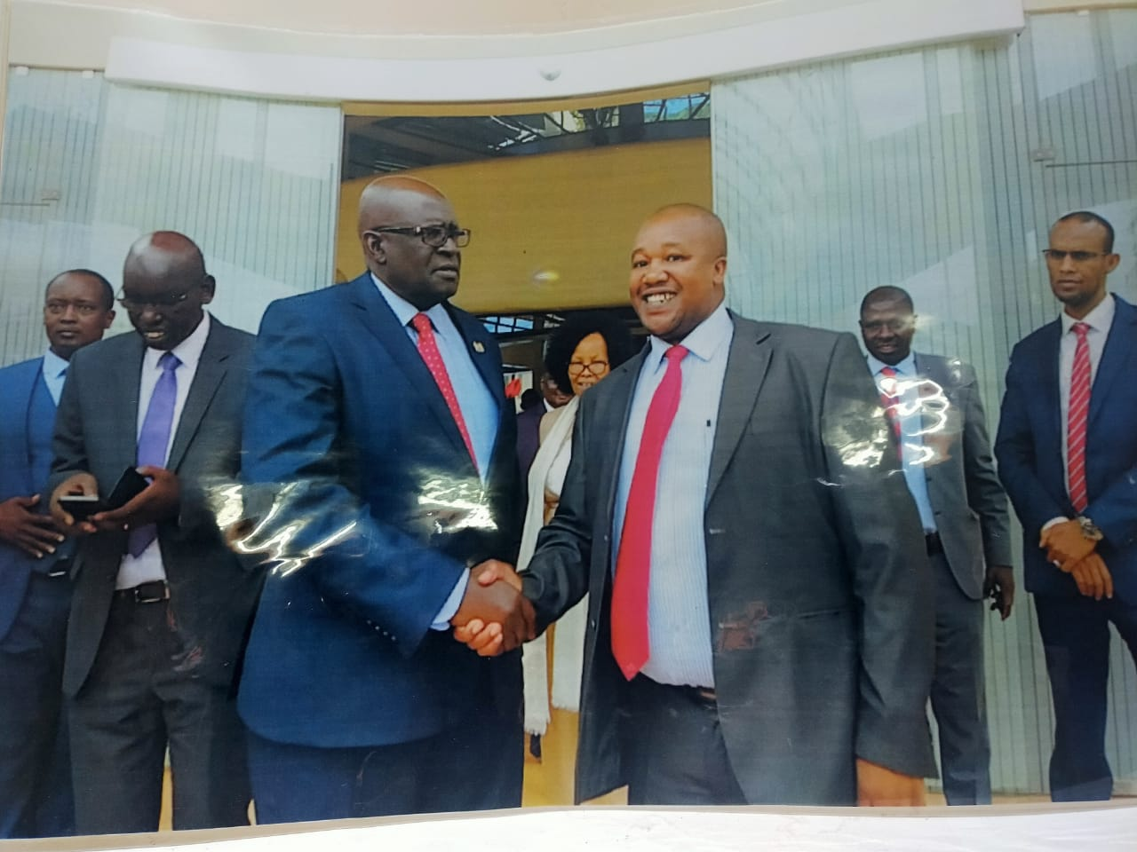 Wambugu wa Kamau with Education CS Prof. George Magoha.