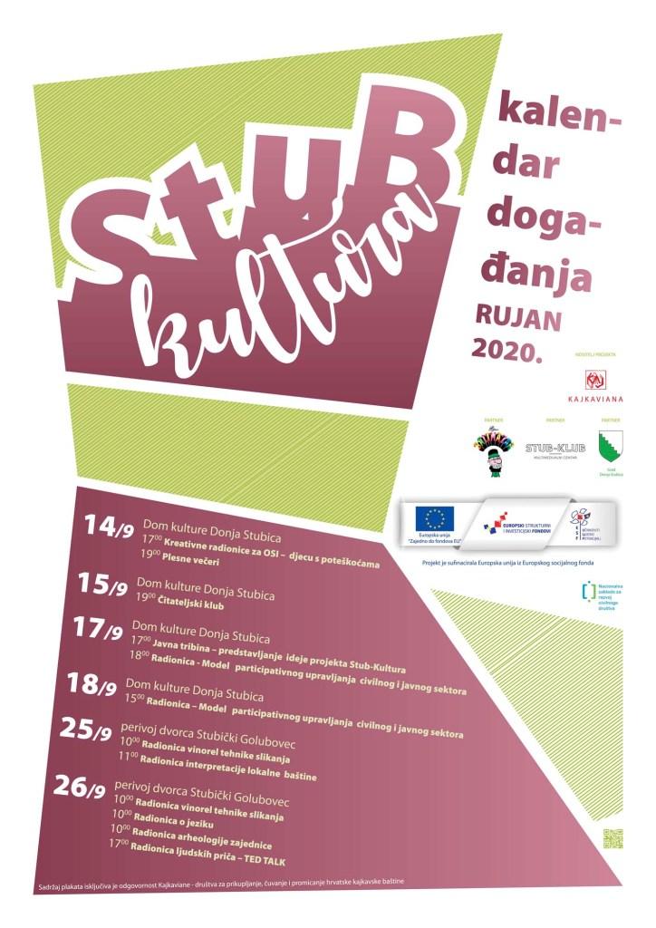 STUB-KLUTURA kalendar događanja rujan 2020.