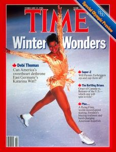 Debi Thomas, figure skater on cover of TIME