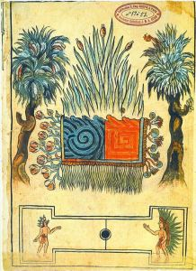 Aztec symbols for water and fire