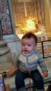 Baby and Pieta, Rome.