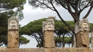 Ostia Antica sculpture.