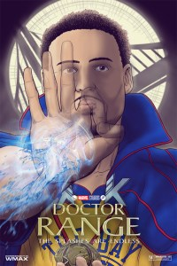 Klay Thompson drawn as Dr. Strange