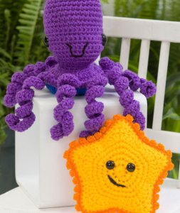 Yarn Octopus and Starfish