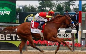Justify wins Belmont