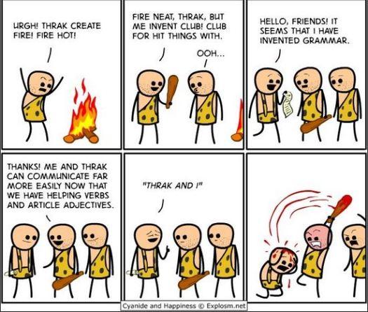 The Invention of Grammar cartoon