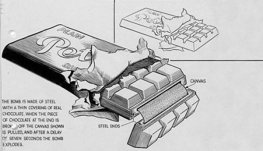 WWII chocolate bomb
