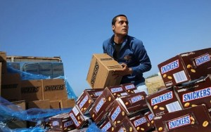 Snickers destroyed in Gaza