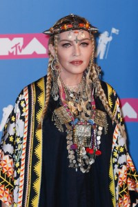 Madonna wearing Moroccan fashions
