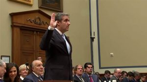 Cohen testifying