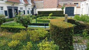 Bruges courtyard