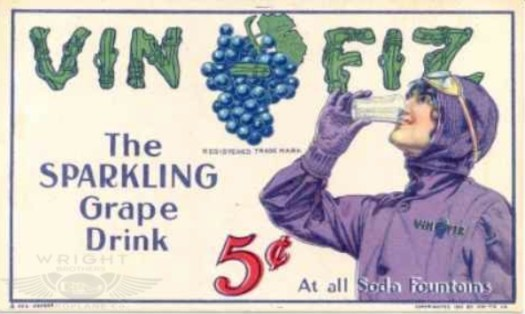 Quimby advertisement for Vin Fiz