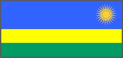 Ruanda - Nationalflagge