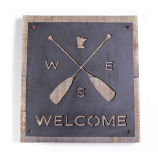 Directional Welcome Sign