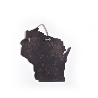 WI Hanging Metal Sign