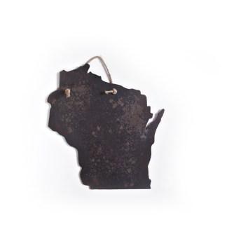 WI Hanging Metal Sign